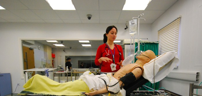 Trainee doctors in our simulation suite