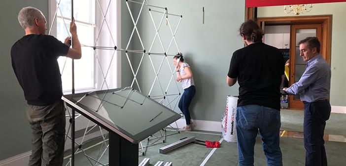 Assembling stand at Royal Society Summer Science Exhibition
